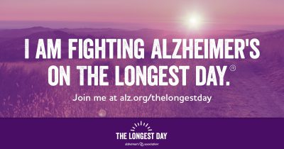 I am fighting Alzheimer's on the longest day. Join me!